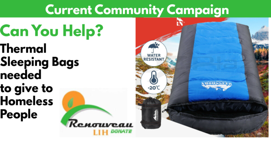 COMMUNITY CAMPAIGN: Sleeping Bags Needed for Homeless People