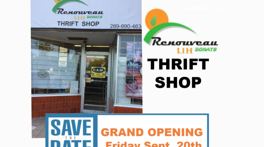 Donations, Volunteers Needed – RENOUVEAU LIH Donate Thrift Shop Opening September 20th!