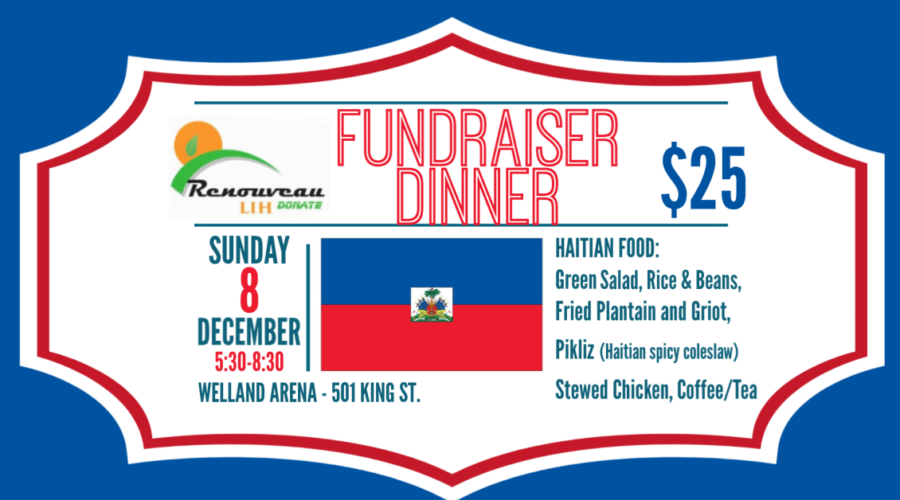 Fundraiser Dinner Sunday December 8th at the Welland Arena